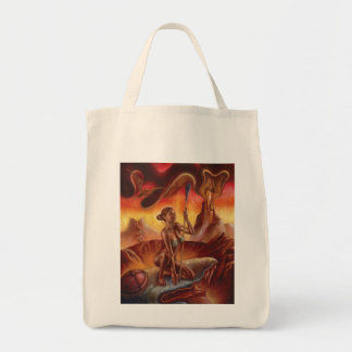 Spear Woman Grocery Tote Grocery Tote Bag