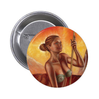 Spear Woman Woman Round Button