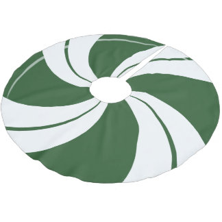 Spearmint Candy Swirl Brushed Polyester Tree Skirt