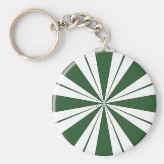 Spearmint Stripe Candy Keychain