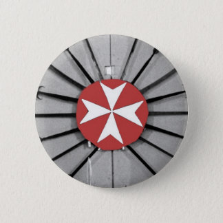 Spears and Knights of St John Maltese Cross 6 Cm Round Badge
