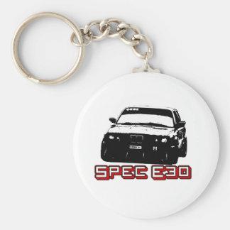 Spec E30 Car Basic Round Button Key Ring