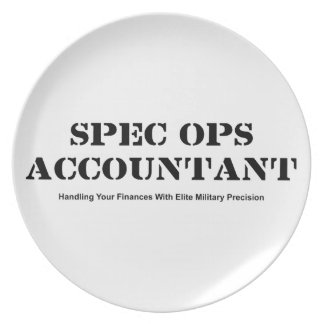 Spec Ops Accountant Dinner Plates