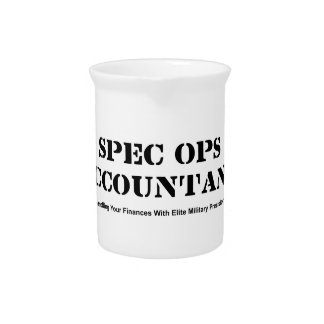 Spec Ops Accountant Drink Pitcher