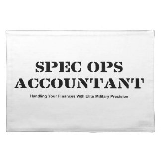 Spec Ops Accountant Placemat