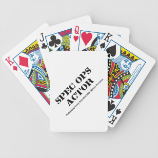 Spec Ops Actor Bicycle Playing Cards