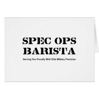 Spec Ops Barista Card