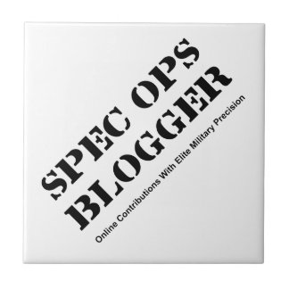 Spec Ops Blogger Small Square Tile