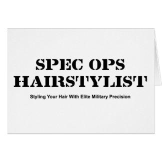 Spec Ops Hair Stylist Card