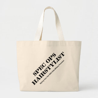 Spec Ops Hair Stylist Large Tote Bag