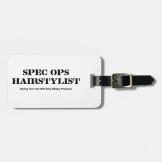 Spec Ops Hair Stylist Luggage Tag