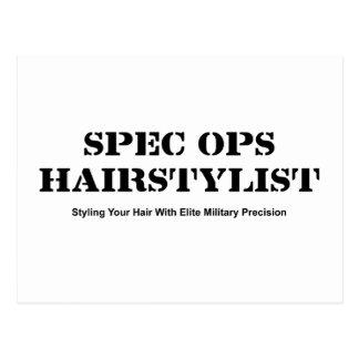 Spec Ops Hair Stylist Postcard