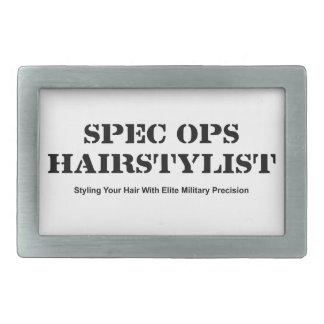 Spec Ops Hair Stylist Rectangular Belt Buckles
