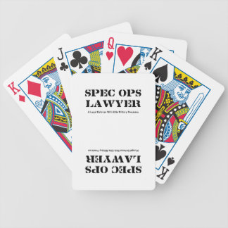 Spec Ops Lawyer - Defense Bicycle Playing Cards