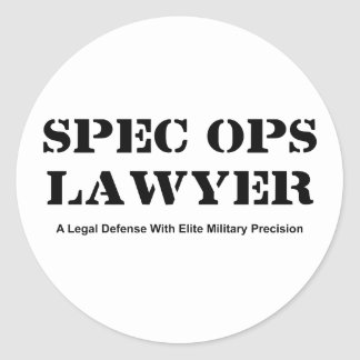 Spec Ops Lawyer - Defense Classic Round Sticker