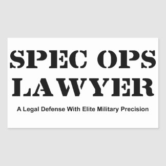 Spec Ops Lawyer - Defense Rectangular Sticker