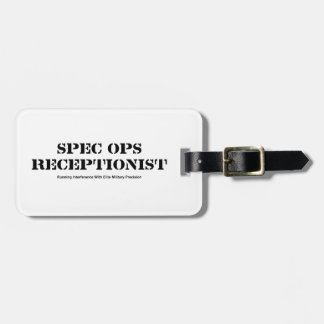 Spec Ops Receptionist Luggage Tag
