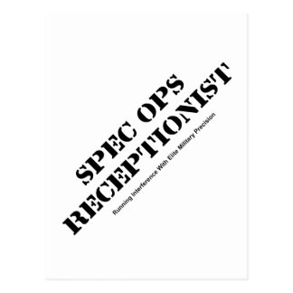 Spec Ops Receptionist Postcard
