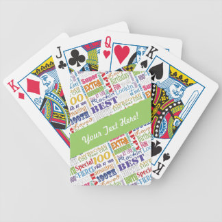 Special 100th Birthday Party Personalized Gifts Bicycle Playing Cards
