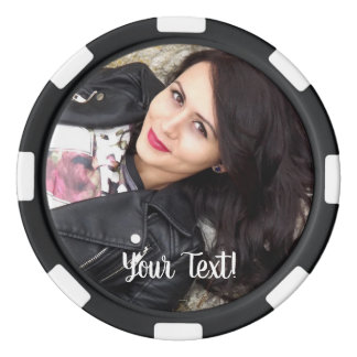 Special 100th Birthday Party Photo Monogram Poker Chips