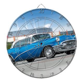 Special 1955 Old Car Blue Classic Vintage Dartboard
