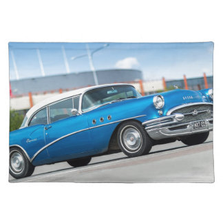 Special 1955 Old Car Blue Classic Vintage Placemat