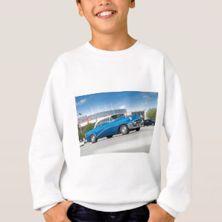 Special 1955 Old Car Blue Classic Vintage Sweatshirt