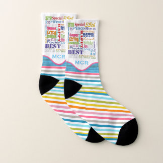 Special 35th Birthday Party Photo With Monogram Socks