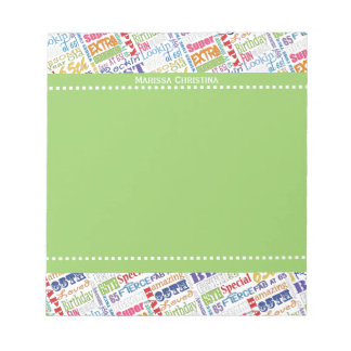 Special 65th Birthday Party Personalized Gifts Notepad
