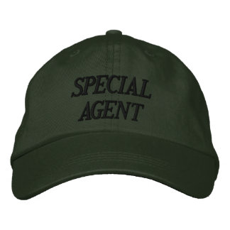 """SPECIAL AGENT"" EMBROIDERED CAP"