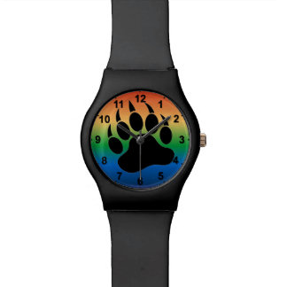 Special Bear Paw Gradient back Black masculine Watch