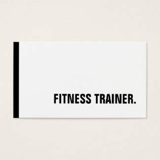 Special Black White Fitness Trainer Trendy Business Card