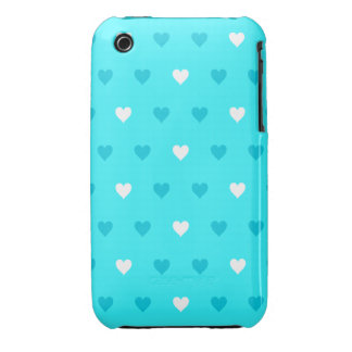 Special Blue Heart Pattern iPhone 3 Case-Mate Cases