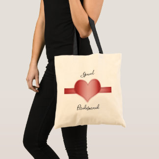 Special bridesmaid tote bag