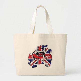 Special British Bulldog Tote Bags