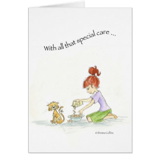 Special care little cat card