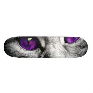 Special Cat with Purple Eyes 20.6 Cm Skateboard Deck