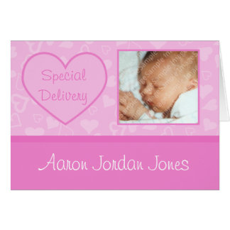 Special Delivery Baby Girl Birth Announcements