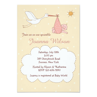 Special Delivery Baby Girl Sprinkle Invitations