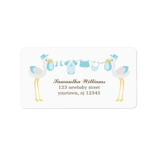 Special Delivery Boy Baby Shower Label
