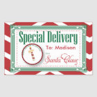 Special Delivery Christmas sticker gift tag