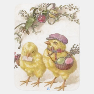 Special Delivery Easter Chicks Baby Blanket