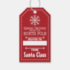 Special Delivery From North pole and Santa Claus Gift Tags