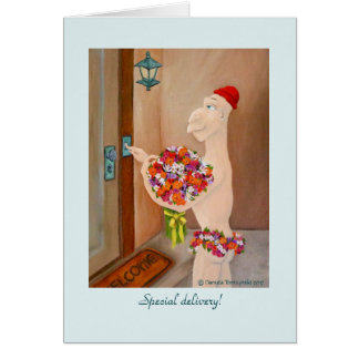 Special Delivery greeting card by Danuta Tomzynski