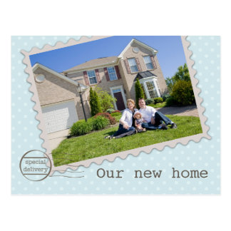 Special Delivery New Home Photo Postcard