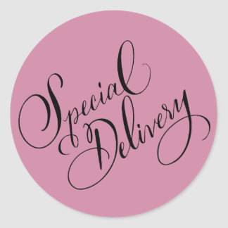 Special Delivery Round Sticker