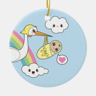 Special Delivery - Stork & Baby Ceramic Ornament