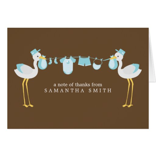 Special Delivery Thank You Notes {blue} Greeting Cards