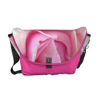 Special Design Messenger Bag With Pink Rose Flower