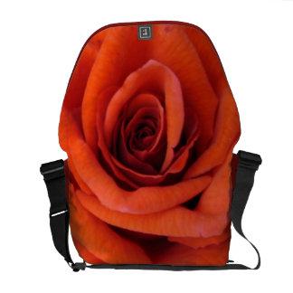 Special Design Messenger Bag With Red Rose Flower